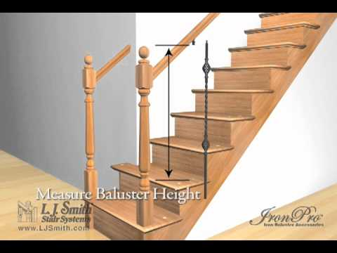 Ironpro Baluster Fasteners Installation Youtube   Installing Wood Balusters On An Angle   Stair Parts   Stair Spindles   Banister   Knee Wall   Handrails