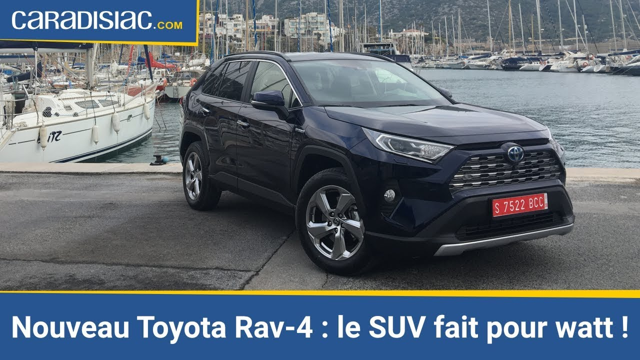essai toyota rav 4 hybride 2019 le suv fait pour watt youtube. Black Bedroom Furniture Sets. Home Design Ideas