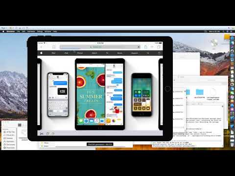 iOS 11 iPhone X using xCode's simulator, macOS 10 13 beta in VMWare on my PC, testing out iPad OS 11