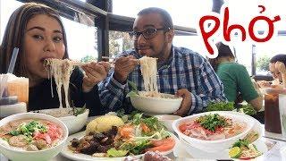Vietnamese phở MUKBANG | Spring Rolls | Pho Dac Biet | Bo Luc Lac | Nem Noung Cuon | Collab Bloves!!