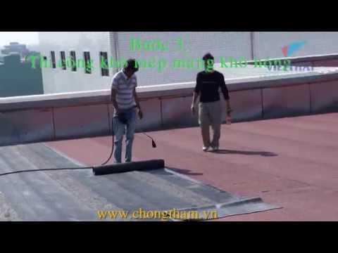 Cách chống thấm mái, quy trình thi công chống thấm sàn mái Orionvina