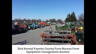 33rd Annual Fayette County Farm Bureau Consignment Auction - Lexington, KY 3/12/16