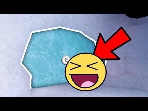 *GOING INSIDE* SECRET ICE CAVE DOOR WITH SNOWMAN in JAILBREAK! (Roblox Jailbreak)