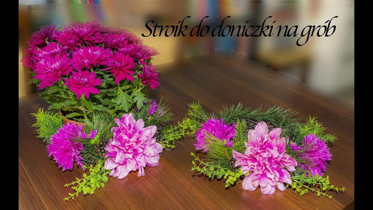 Stroik Na Doniczkę Z Kwiatami Na Grób