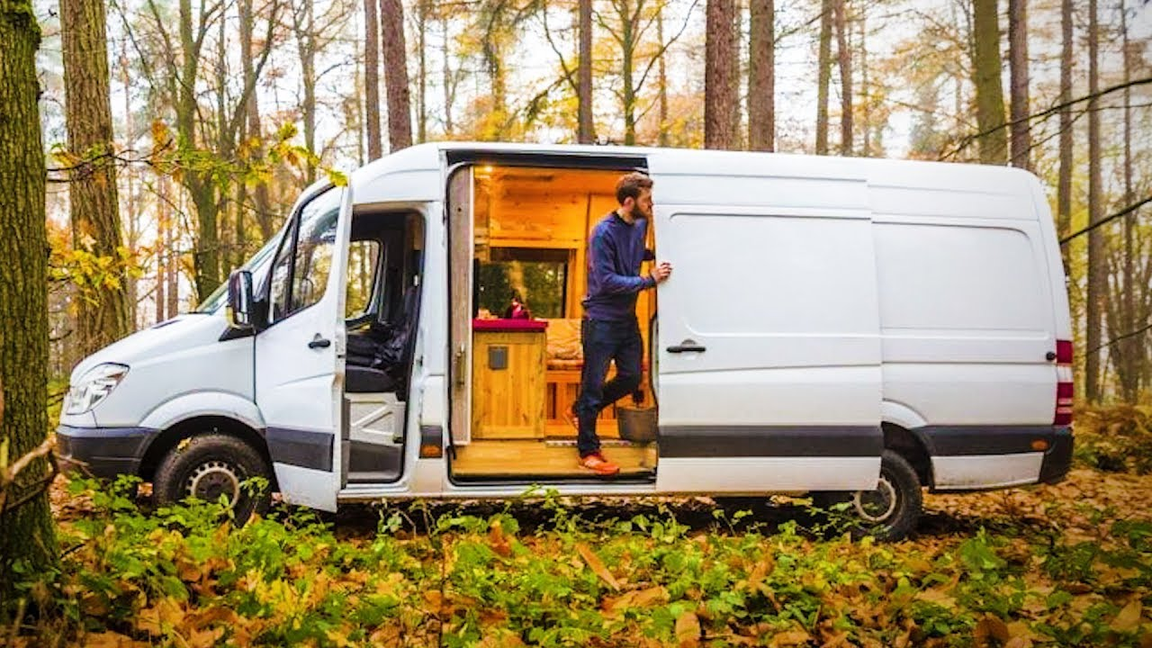 This Van Was Converted to Look Like a Ski Resort Chalet