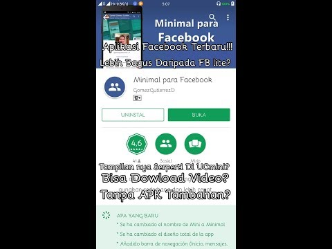 Aplikasi Minimal Para Facebook!!! Lebih bagus Daripada FB lite & FB seluler?