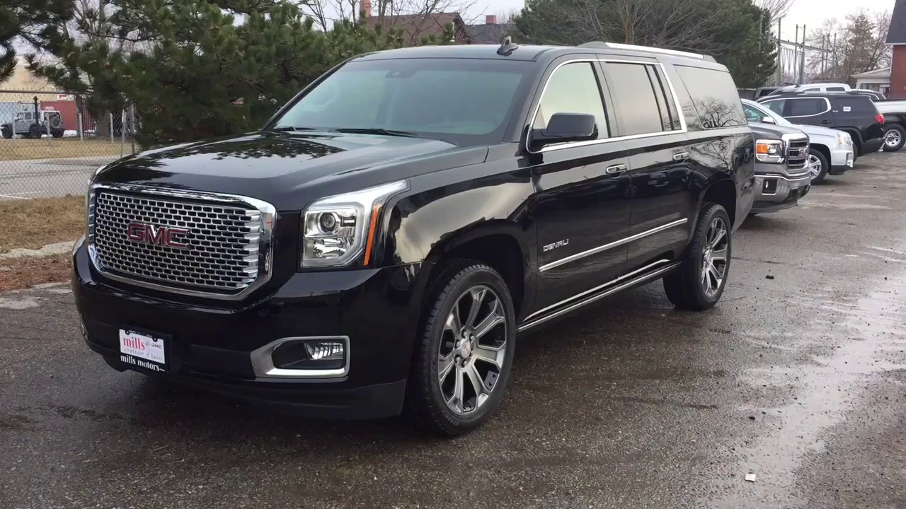 2017 Gmc Yukon Xl 4wd Denali Head Up Display Hands Free Liftgate Black Oshawa On Stock 170689