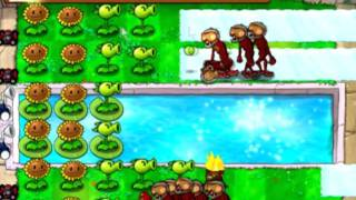 Plants Vs. Zombies - Bobsled Bonanza (8 slots without upgrade plants) (audio commentary)