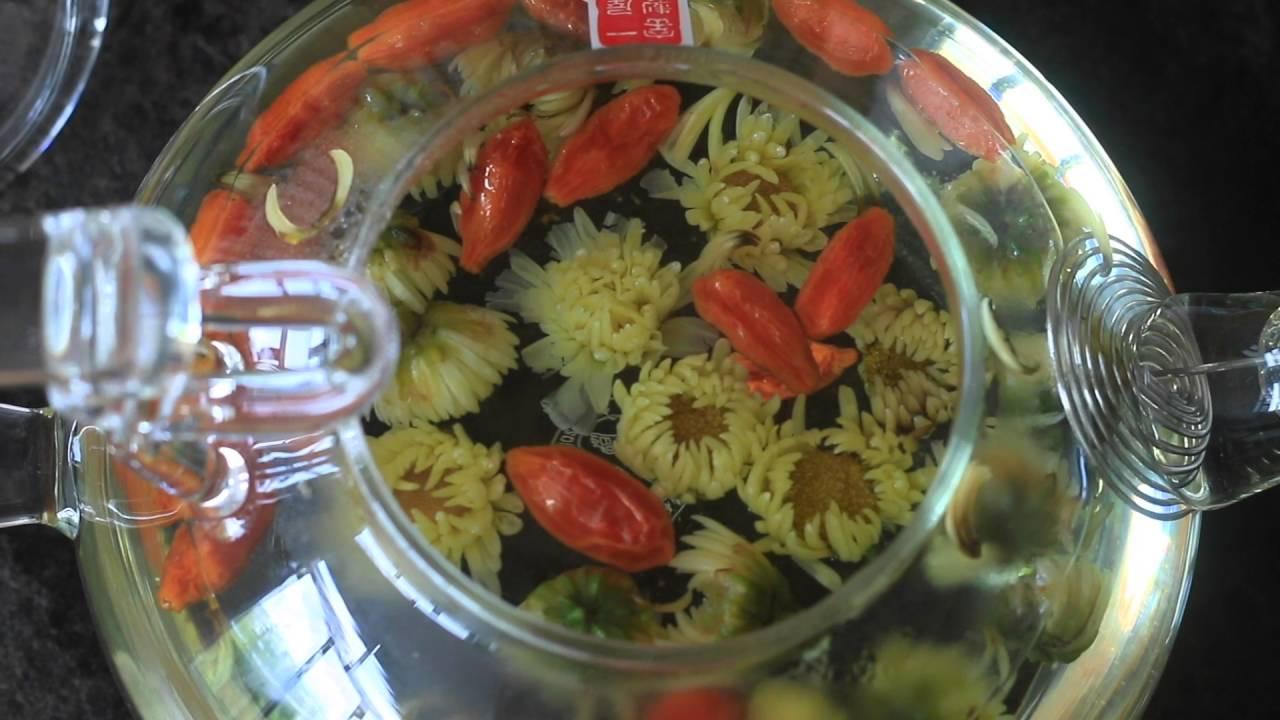 Chrysanthemum Goji Berry Tea Recipe Herbal Tea Blend For Eye Health Youtube