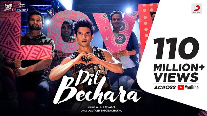 Dil Bechara – Title Track | Sushant Singh Rajput | Sanjana Sanghi | A.R. Rahman |Mukesh C |Amitabh B