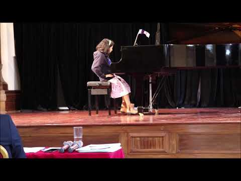 Eva performing for RC piano competition