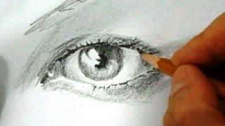 КАК научиться РИСОВАТЬ. Рисуем ГЛАЗ карандашом(Полный курс
