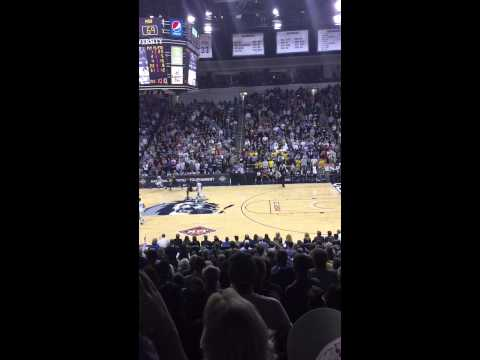 Trey Freeman banks the 30 foot buzzer-beater to beat Murray