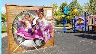 Sihirli Pembe Prenses Arabamla Parka Gidiyoruz! Kids we go to the park with my magic pink car