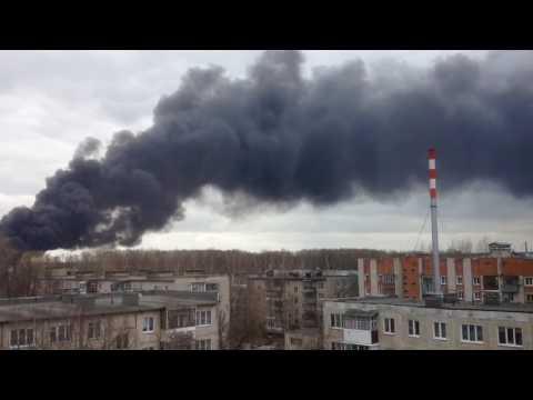 Пожар в перчаточном цеху города Иваново