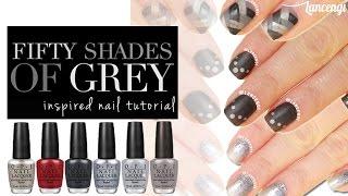 Beginners Nail Art #23 : 50 Shades of Gray - Lancengi