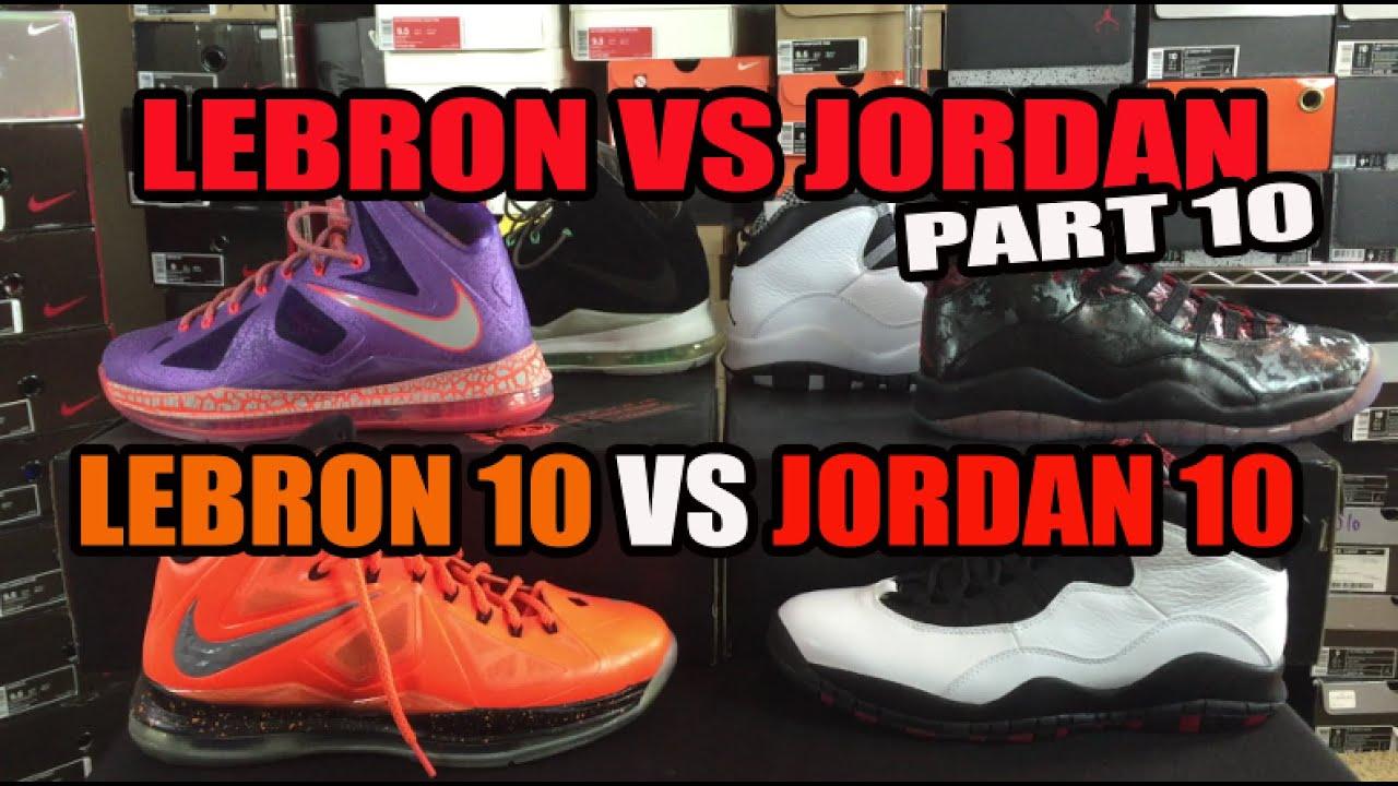 32bc7d7e30ba Jordan vs Lebron Sneakers Series Part 10  Air Jordan 10 (X) vs Nike Lebron  10 (X)