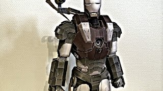 Iron Man War Machine paper model assembling (Papercraft)