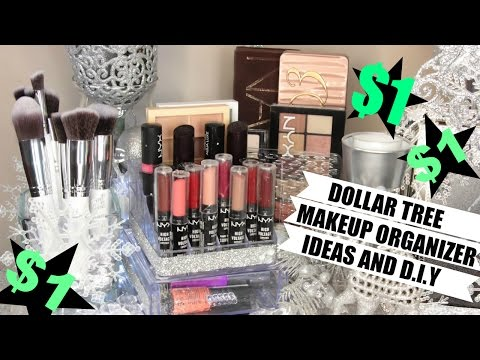 $1 Makeup Organizers Dollar Tree Ideas and D.I.Y