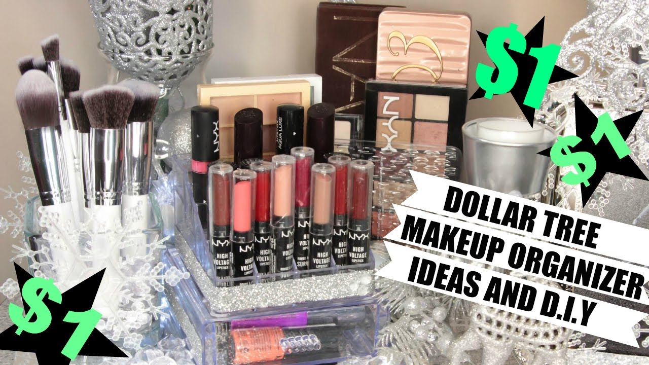 $1 Makeup Organizers Dollar Tree Ideas and D.I.Y - YouTube