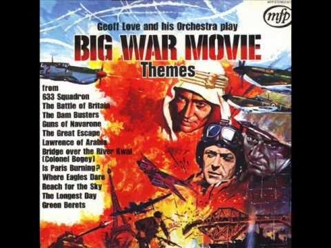 Great/Big war movie themes.  Where Eagles Dare. (theme) Geoff Love mp3