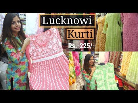 Best Lucknowi Kurtis & Palazzos   Wholesale & Retail   Crawford Market   Better Than Surat  