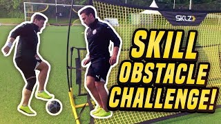 SkillTwins Takes On Football SKILL OBSTACLE CHALLENGE ★