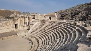 The story of the ancient Roman theater in Beit She'an (Decapolis), Israel