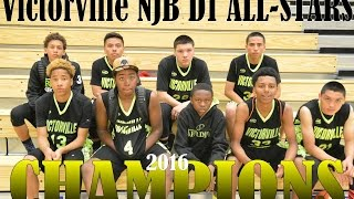 Victorville NJB D1 ALL-STARS vs Hacienda Heights 2016 Basketball