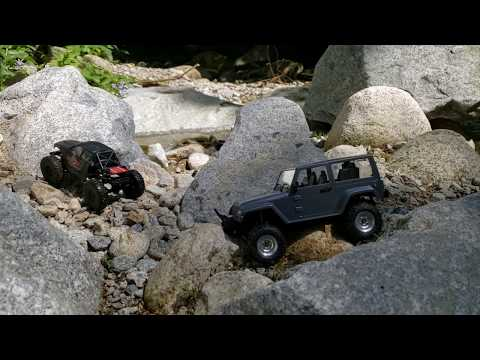 Axial Scx24 Micro with Rc4wd 1/18 Jeep Short video