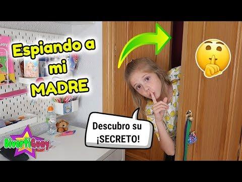 ESPÍO A MI MADRE A ESCONDIDAS DENTRO DEL ARMARIO 😬 DESCUBRO SU SECRETO! LE DOY UN SUSTO