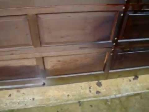 Chemical stripping cedar garage doors youtube for Wind code garage doors