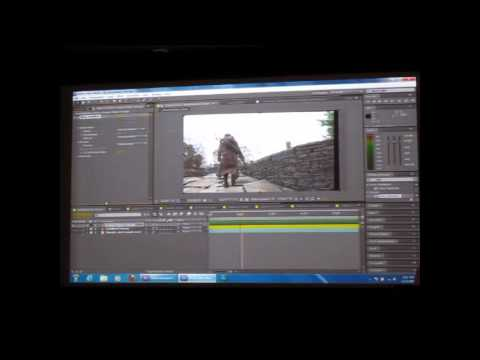 Adobe CS55 Video Editing Effects Demo on After Effects