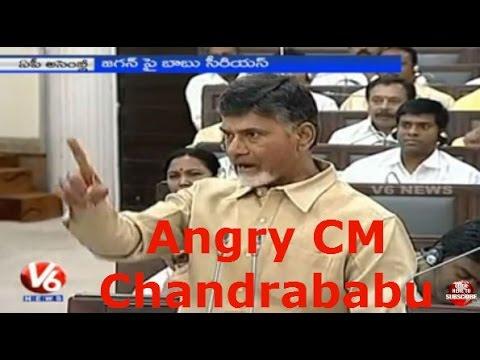 AP CM Chandrababu Naidu Fires on YS Jaganmohan Reddy || AP Assembly || V