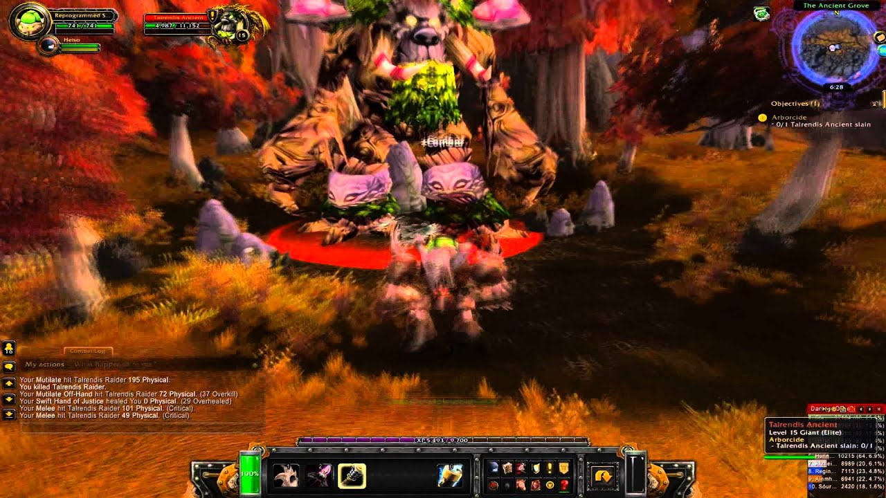 World Of Warcraft Arborcide Quest - YouTube