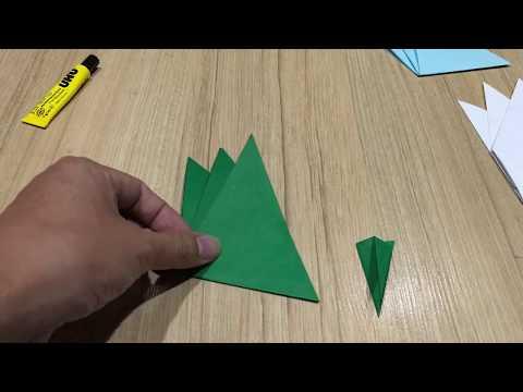 ต้นหญ้ากระดาษ Easy DIY How to Make Paper Origami Grass วิธีพับต้นหญ้ากระดาษ (ใช้แต่งบอร์ดสวยๆ)