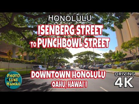 Isenberg Street To Punchbowl Street Downtown Honolulu Oahu Hawaii
