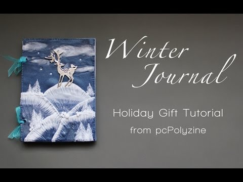 pcPolyzine Video Tutorial: Winter Journal from polymer clay