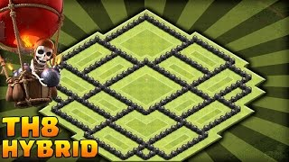 Clash Of Clans: New Town Hall 8 Air Sweeper Hybrid Base (Best TH8 Hybrid Base) Air Sweeper 2015