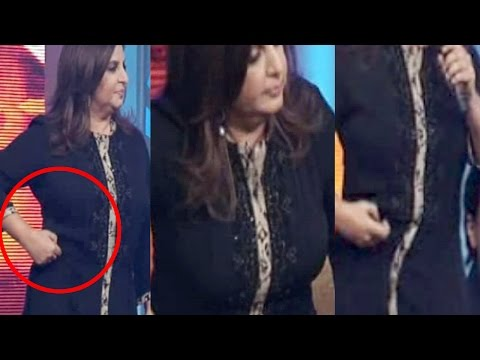 Farah Khan his loosing On Stage in FRONT Of Public