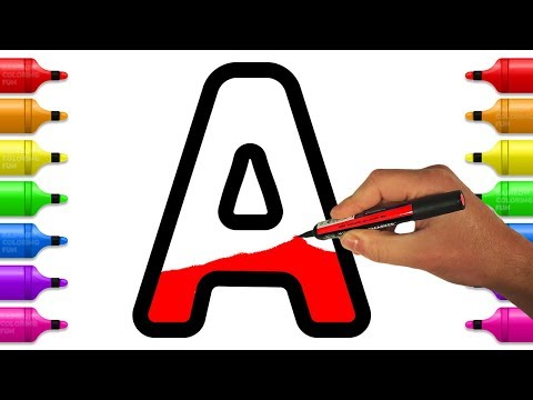 Learn and Color Letters from A to Z | Alphabet Coloring Pages for Kids