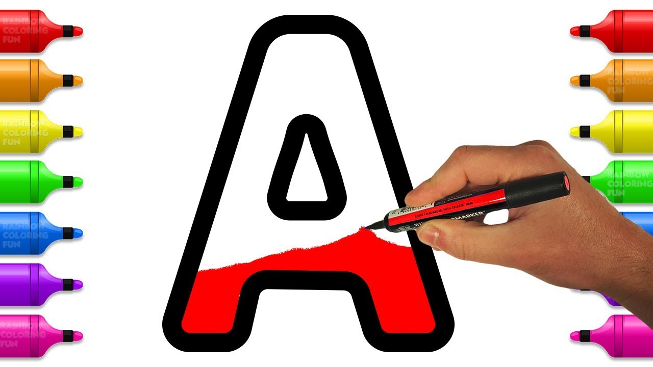 Learn And Color Letters From A To Z Alphabet Coloring Pages For Kids