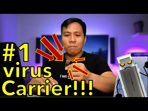 Clean and Stop USB Flash Drive from Virus 👉 WITHOUT Losing Your FIles 👍EASY to follow Tutorial 👍