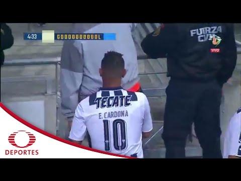 Gol Edwin Cardona   Monterrey 1-0 Querétaro   Televisa Deportes