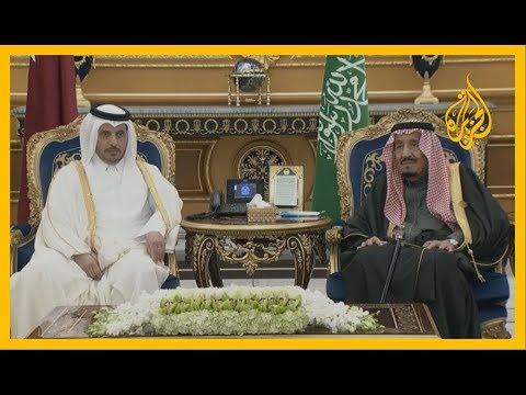 ???? ???? العاهل السعودي يستقبل رئيس مجلس الوزراء القطري المشارك في القمة الخليجية  - نشر قبل 4 ساعة