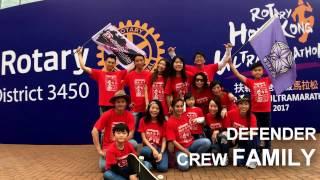 Defender Family - Group Dance Teaching @ Rotary HK Marathon 2017