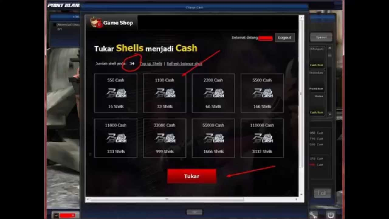 Video Cara Isi Cash/Shell Dan Redeem Point Blank Garena - YouTube