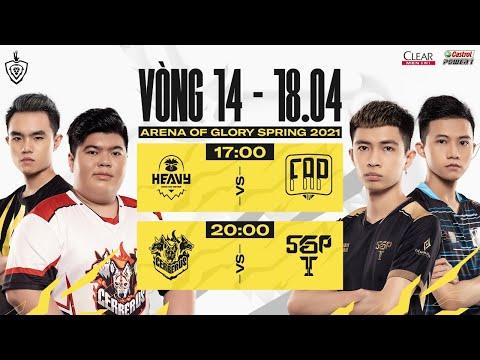 HEV vs FAP  |  CES vs SGP  - Vòng 14 ngày 2 | ĐTDV mùa Xuân 2021