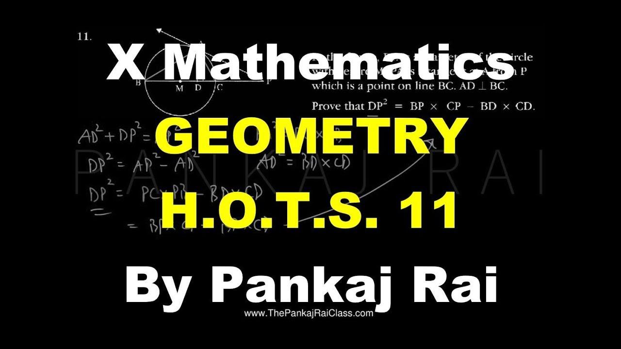 X Mathematics Geometry HOTS 11