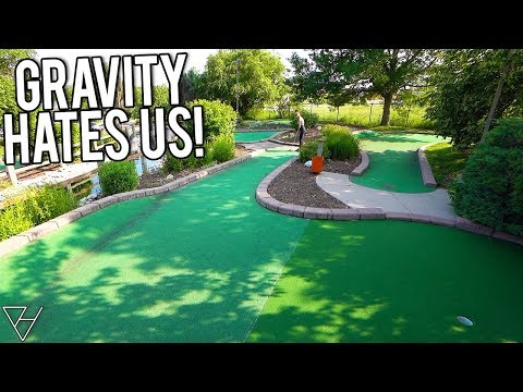 Gravity Is Out To Get Us At This Mini Golf Course!